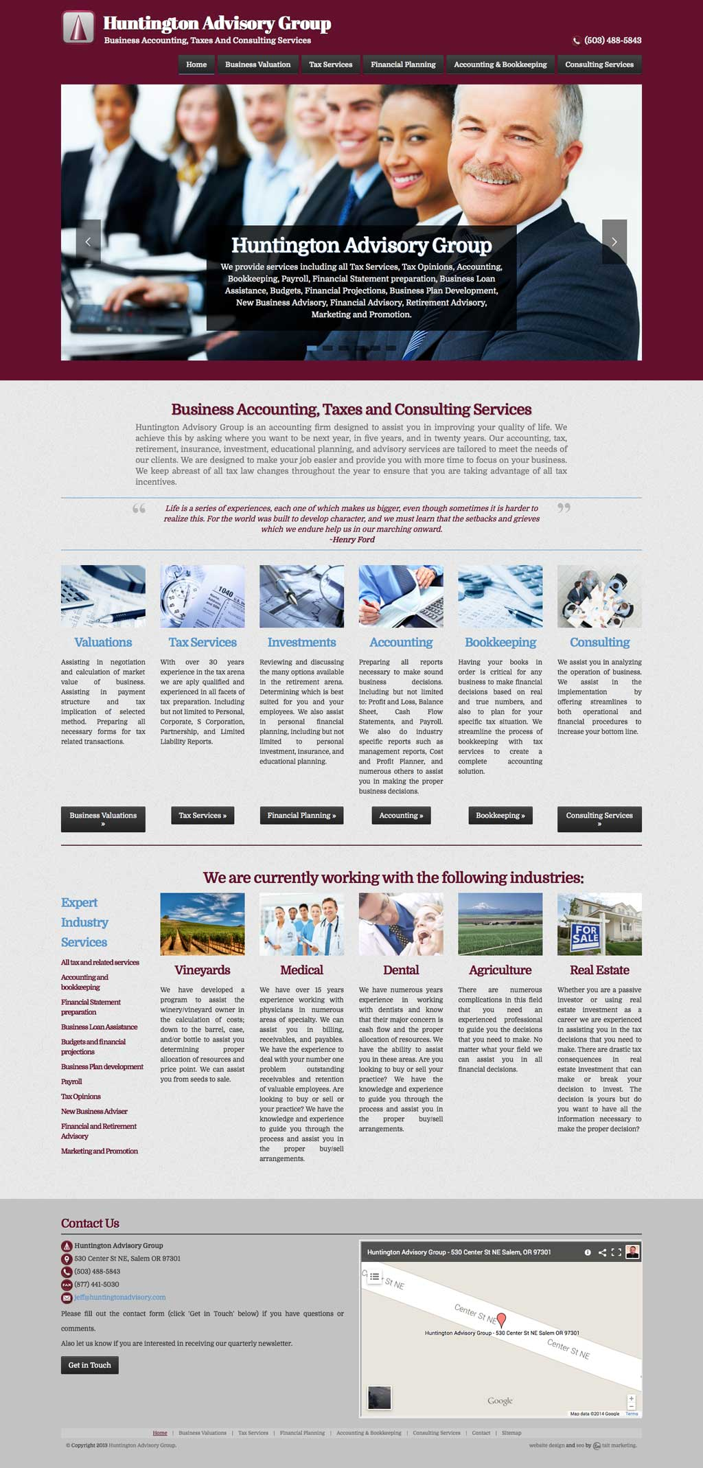 Tax and Accounting Business Web Design Services