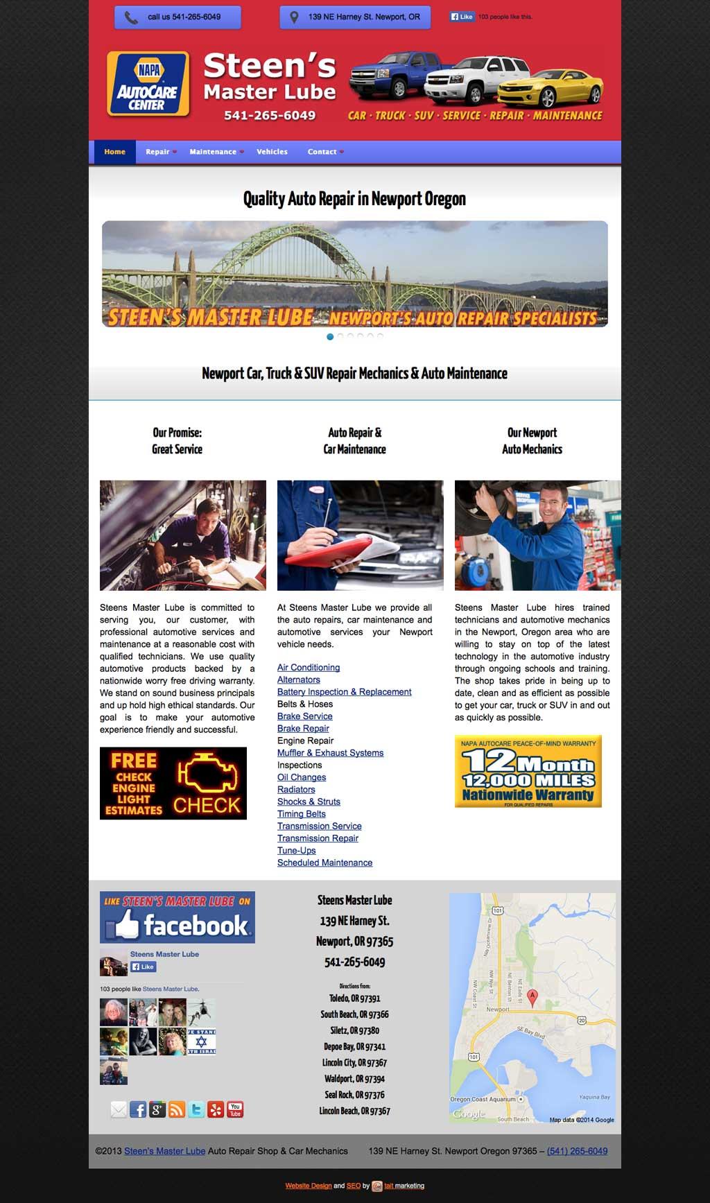 Auto Repair Web Design Services