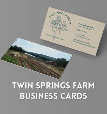 Business Card Design for Twin Springs Farm