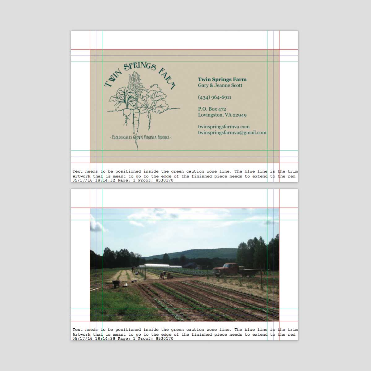 Twin Springs Farm Business Cards – Tait Marketing