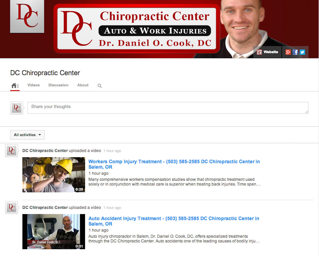 Chiropractic Clinic YouTube Marketing