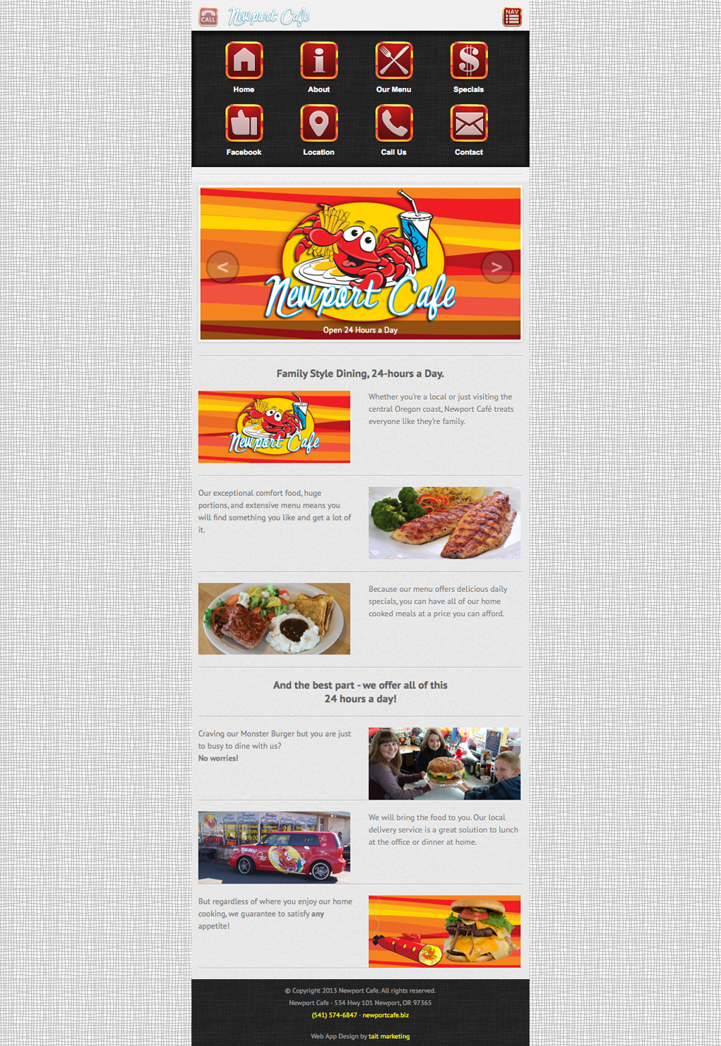 Oregon Restaurant Web App Design<