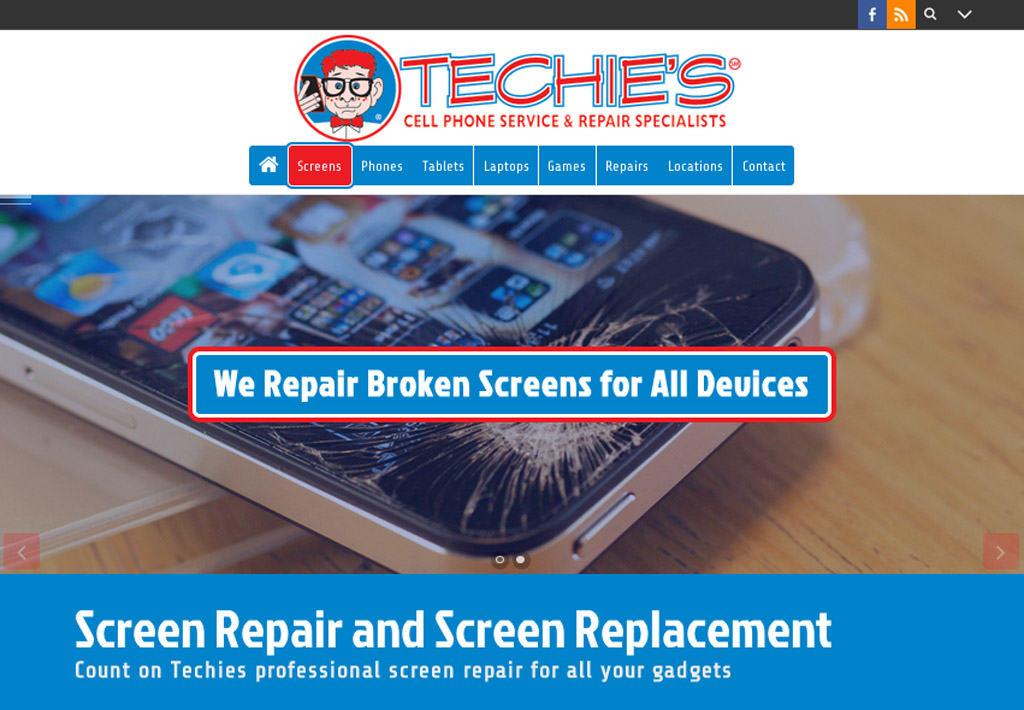 Techies Cell Phone Repair Website Design