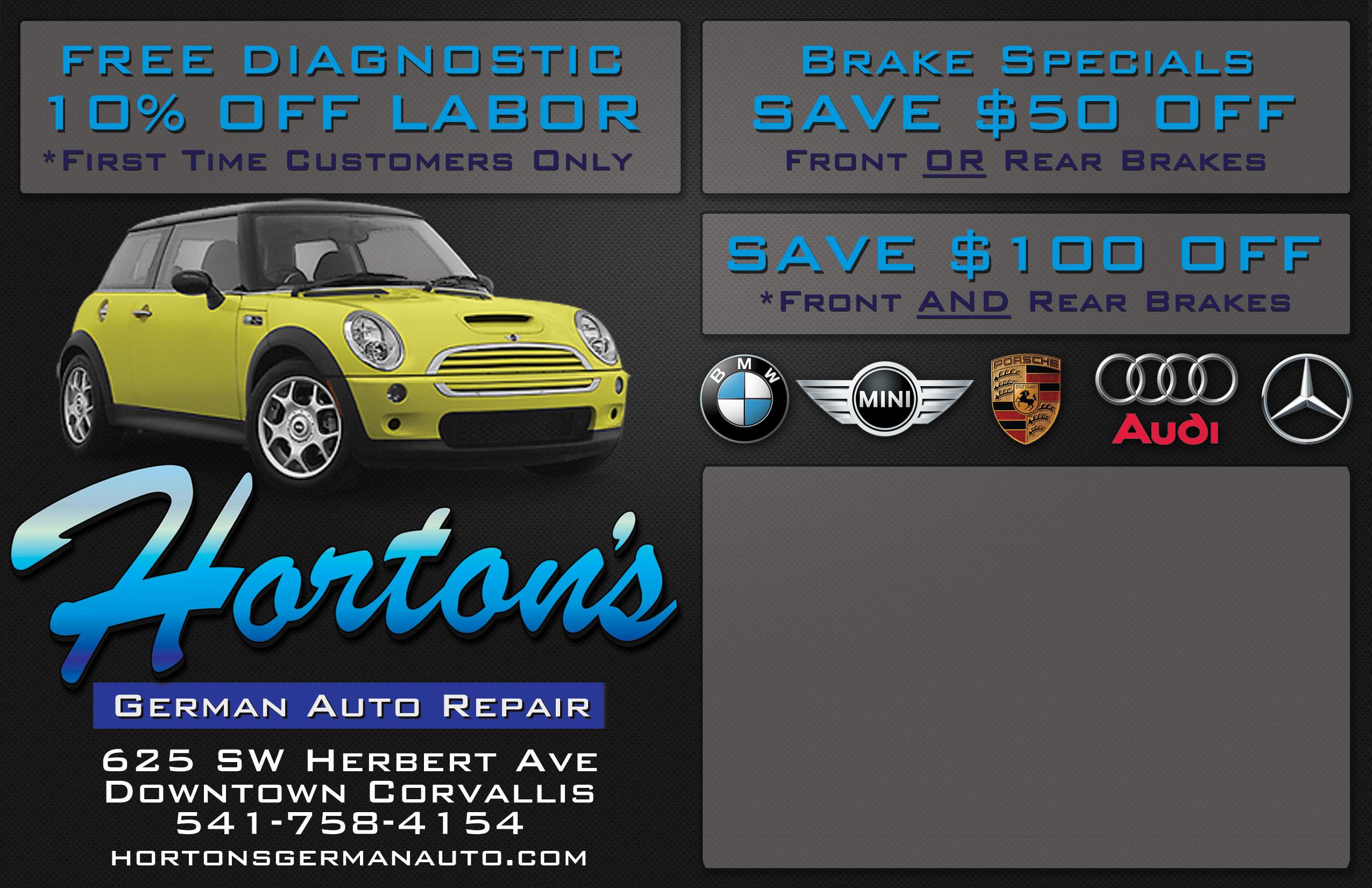 Postcard design for Auto Mechanic